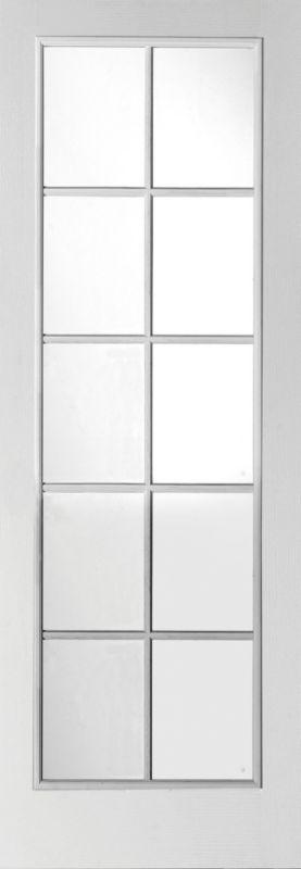 B&Q 6 Door Room Divider - Primed 10 Light Glazed White 366cm (W)