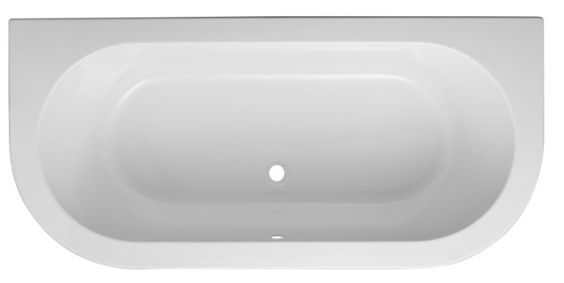 Cooke & Lewis Helena Shaped White Acrylic Bath (L)1700 (W)800mm