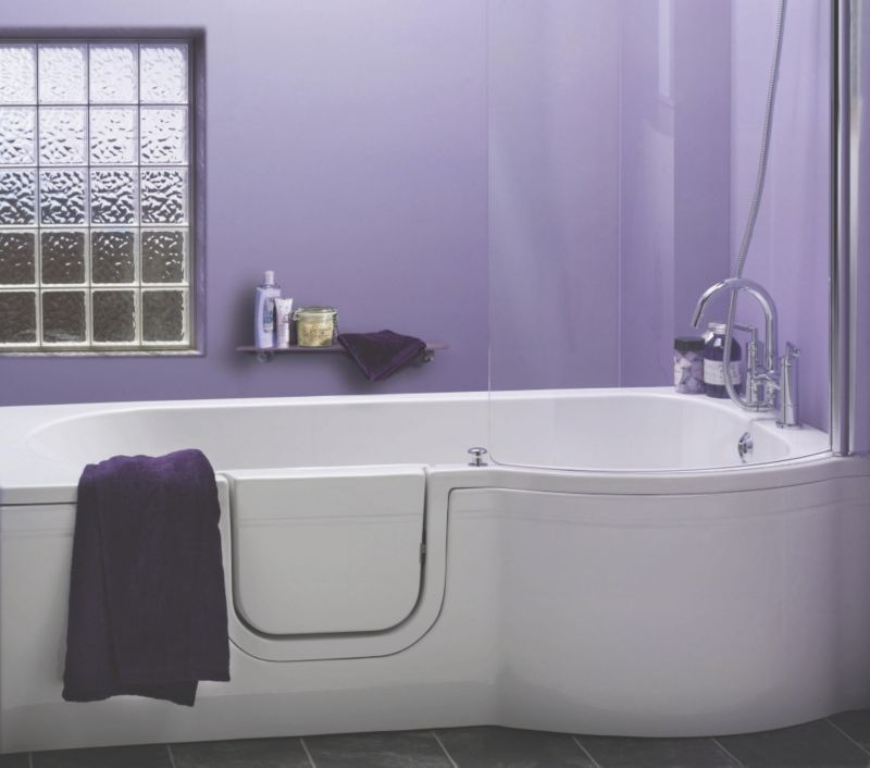 Cooke & Lewis Leonato Walk-In P-Shaped Showerbath Right Handed