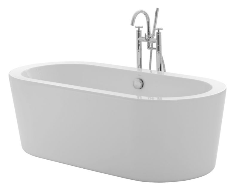 Cooke & Lewis Duchess Deep Freestanding Bath (L)1675mm