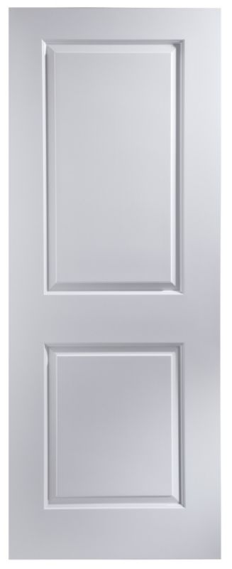 B&Q Cambridge White Smooth Moulded 2 Panel Interior Door (H)1981 (W)686