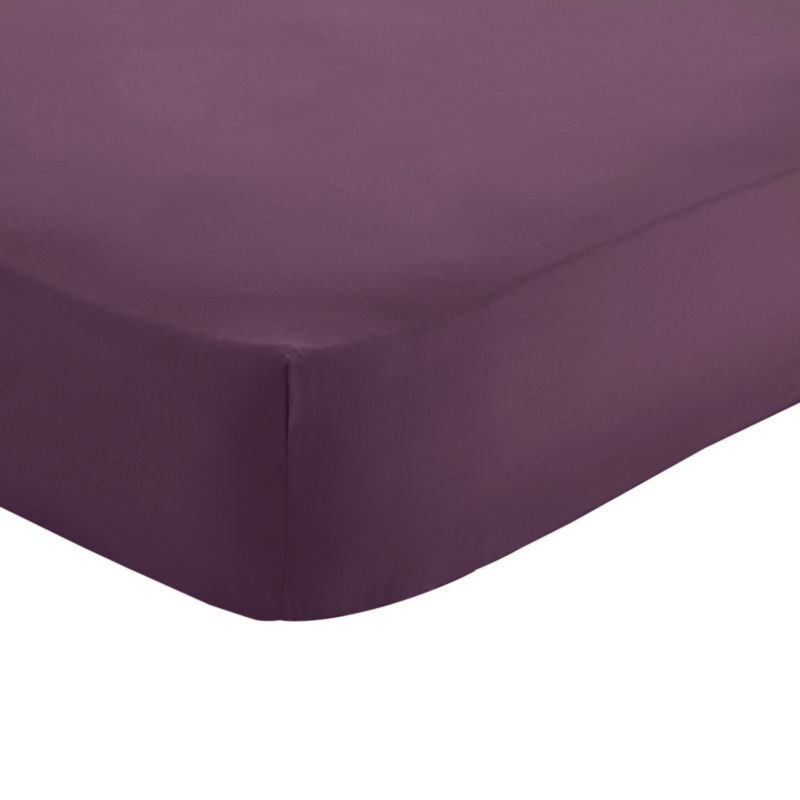 Double Fitted Sheet Purple