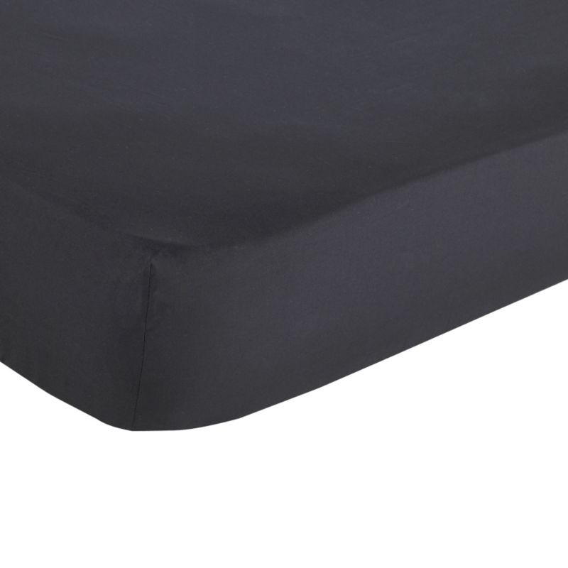 Single Fitted Sheet Black