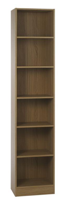 Miami Tall Narrow Bookcase Oak Effect