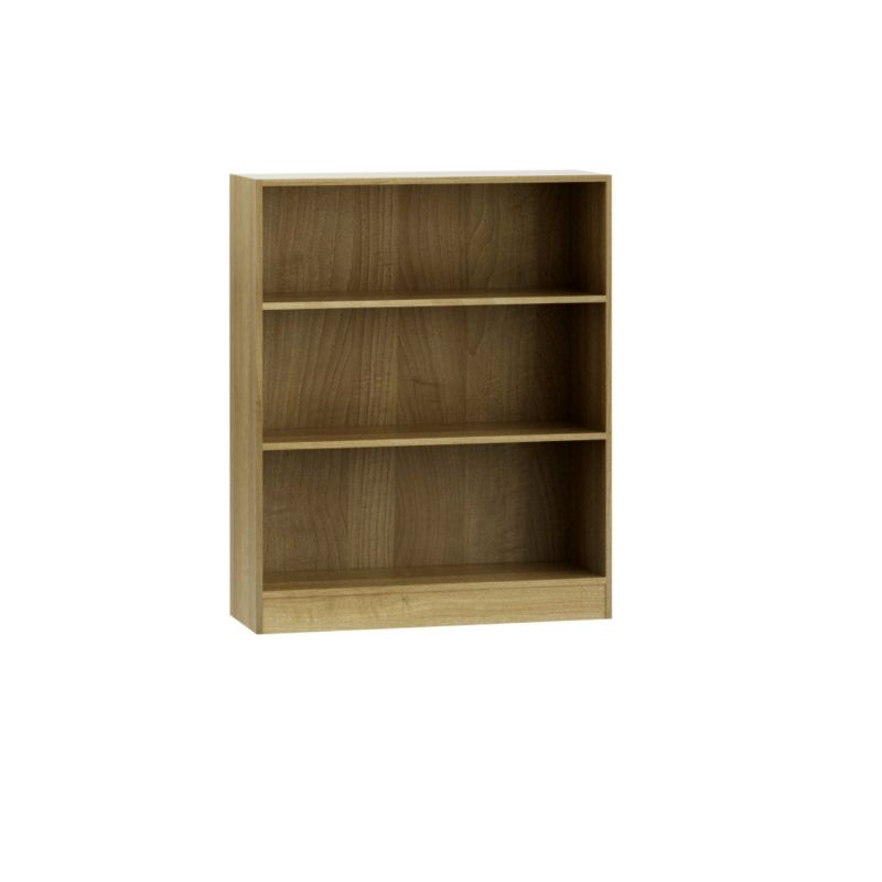 Miami Low Wide Bookcase Walnut Effect
