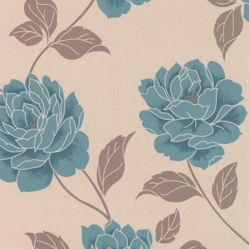 Ella Paste the Wall Wallpaper in Teal by colours