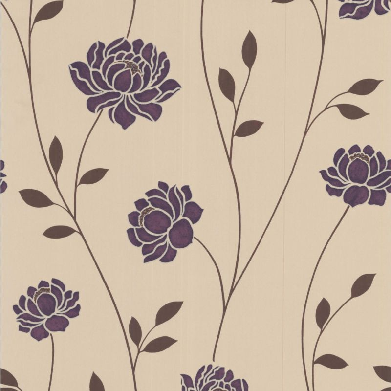 Colours by BandQ Sienna Wallcovering Purple 10m