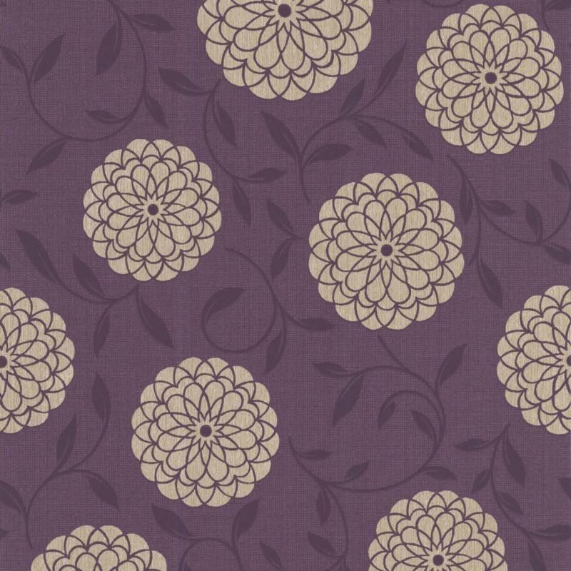 Colours by BandQ Lola Wallcovering Plum 10m 20-082