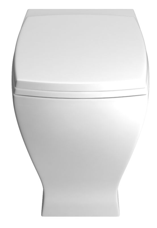 Cooke & Lewis Antonio BTW Toilet with White Gloss Soft Close Seat