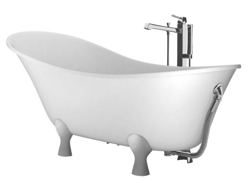 Cooke & Lewis Antonio Freestanding Bath with Chrome Feet