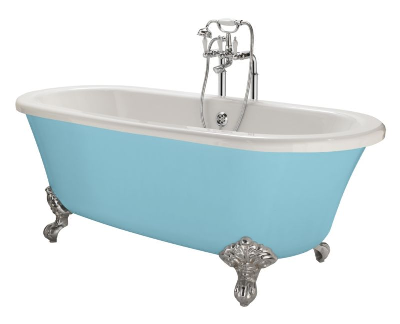 Cooke & Lewis Duchess Paintable Roll Top Bath with Chrome Feet