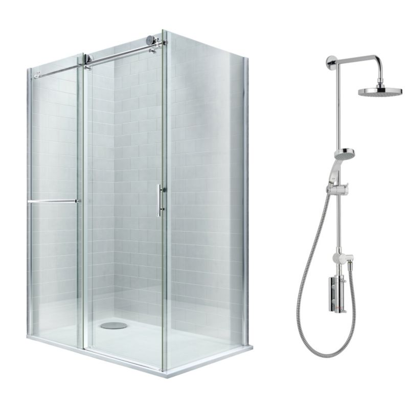 Cooke & Lewis Eclipse Shower Enclosure with Mira Stylis Shower L/H