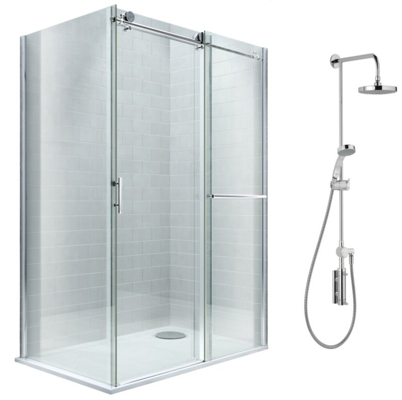 Cooke & Lewis Eclipse Shower Enclosure with Mira Stylis Shower R/H