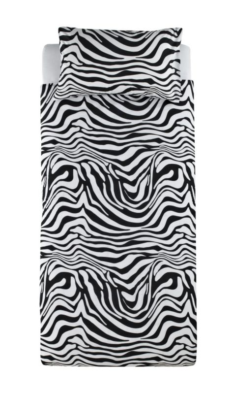 Colours by B&Q Zebra Print Duvet Set Single Black/White
