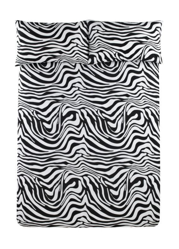 Colours by B&Q Zebra Print Duvet Set King Black/White