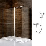 Save on this Cooke & Lewis Cascata Walk In Enclosure with Mira Atom Shower L/H
