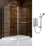 Save on this Cooke & Lewis Cascata Walk In Enclosure with Mira Escape Shower R/H