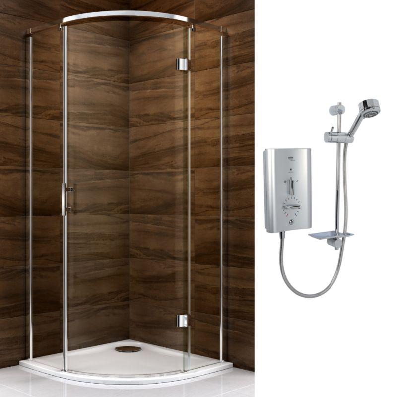 Cooke & Lewis Cascata Pivot Door Enclosure with Mira Escape Shower