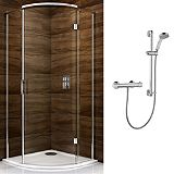 Save on this Cooke & Lewis Cascata Qudrant Enclosure with Mira Atom Shower
