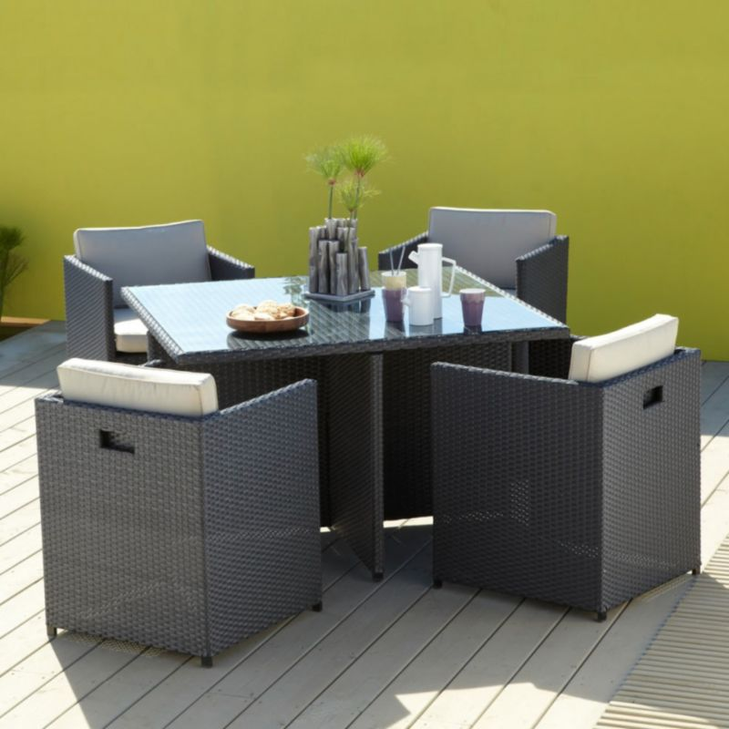 B&Q - Java 4 Seat Square Dining Set customer reviews - product