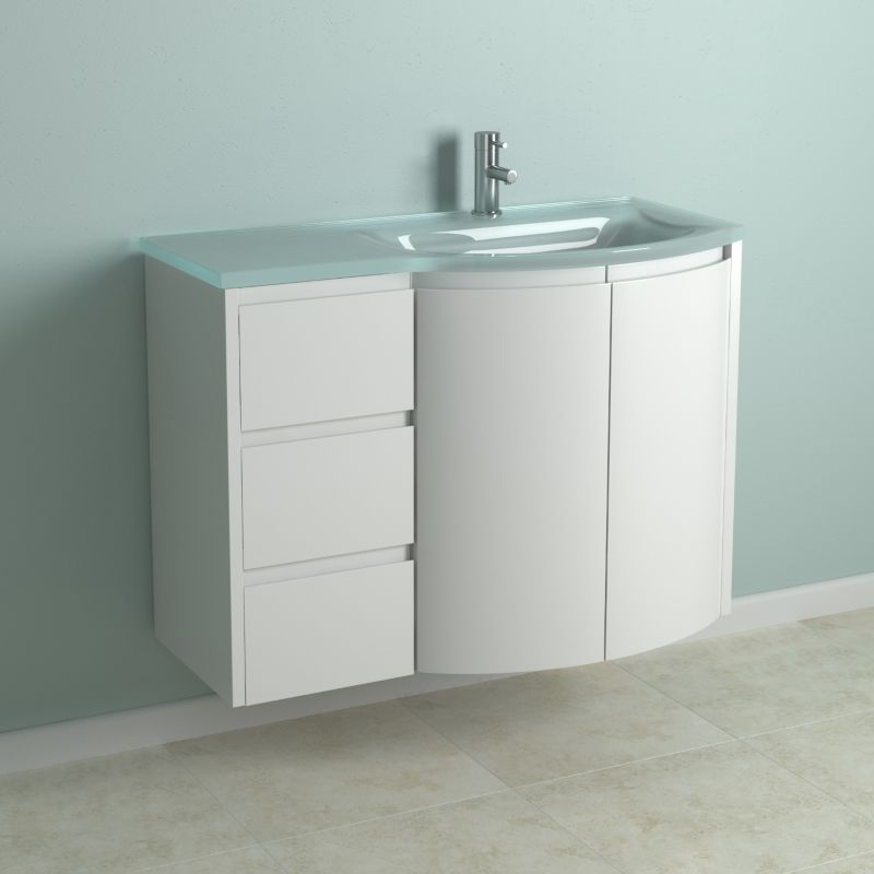 . Rounded Vanity Cabinet