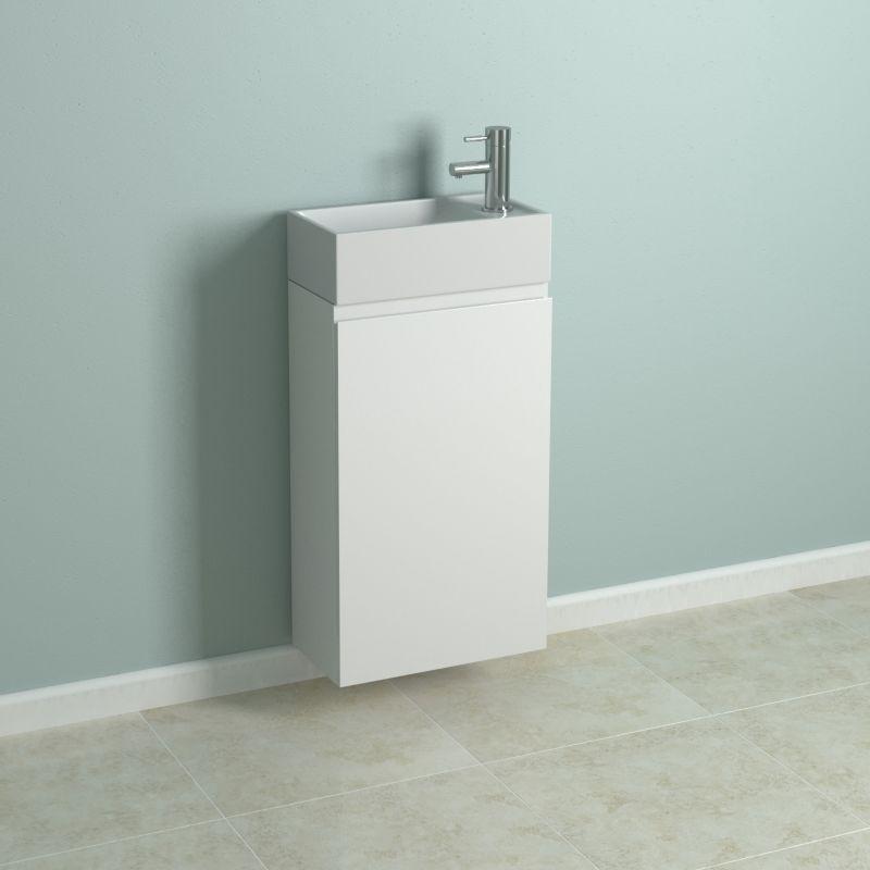 cooke lewis cordosia cloakroom vanity cabinet gloss white