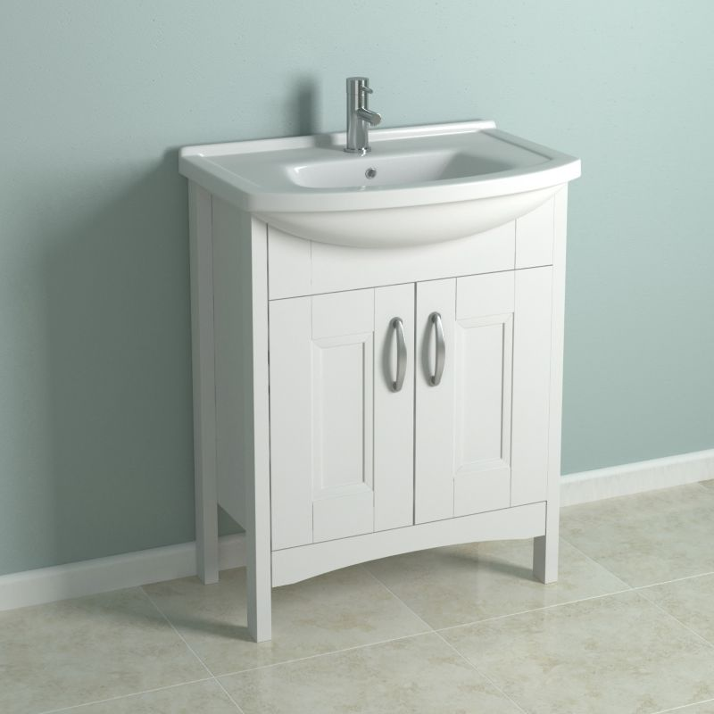 cooke lewis shaker style smooth white vanity cabinet basin