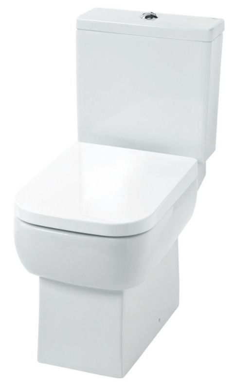 Cooke & Lewis Fabian Close-Coupled Soft Close & Dual Flush Toilet(H)765 (W)365 (D)620mm