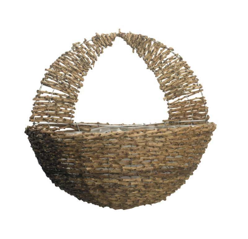 16quot Wall Basket Rustic Weave