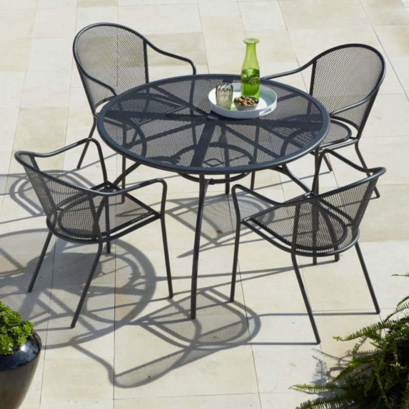 Blooma Coburg Garden Table & 4 Armchairs Set