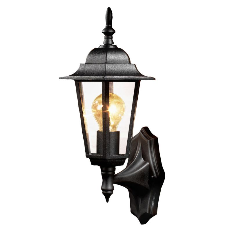 B&Q Trerice Black 6 Sided Lantern