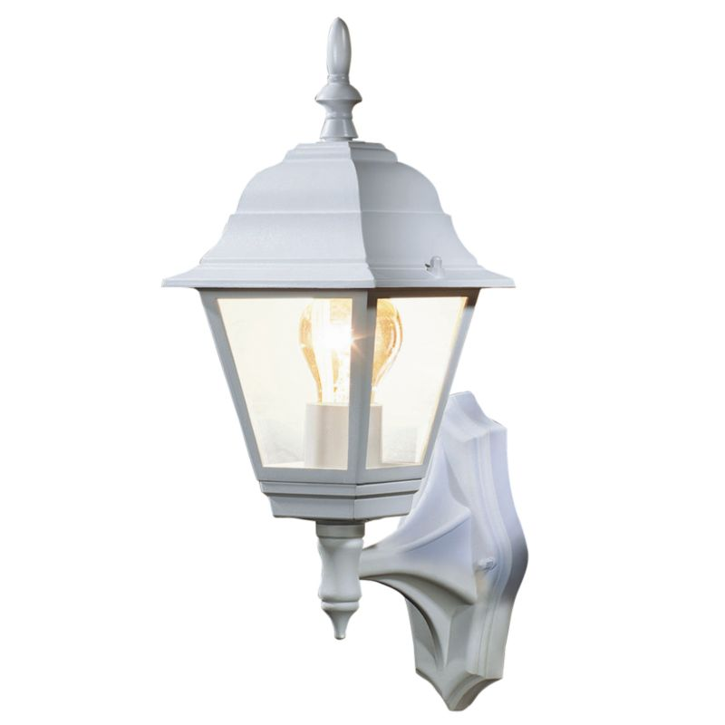 B&Q Penarven Outdoor Wall Light in White Wall Light - review, compare prices, buy online