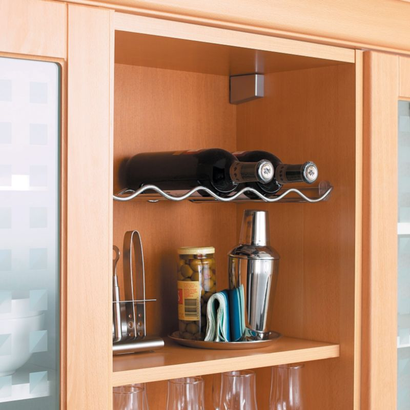 It kitchens 500mm single tier wine rack chrome review for Kitchen cabinets 500mm