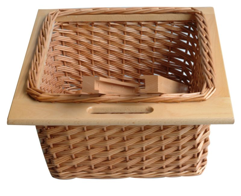 b q it kitchens pull out wicker basket drawer beech