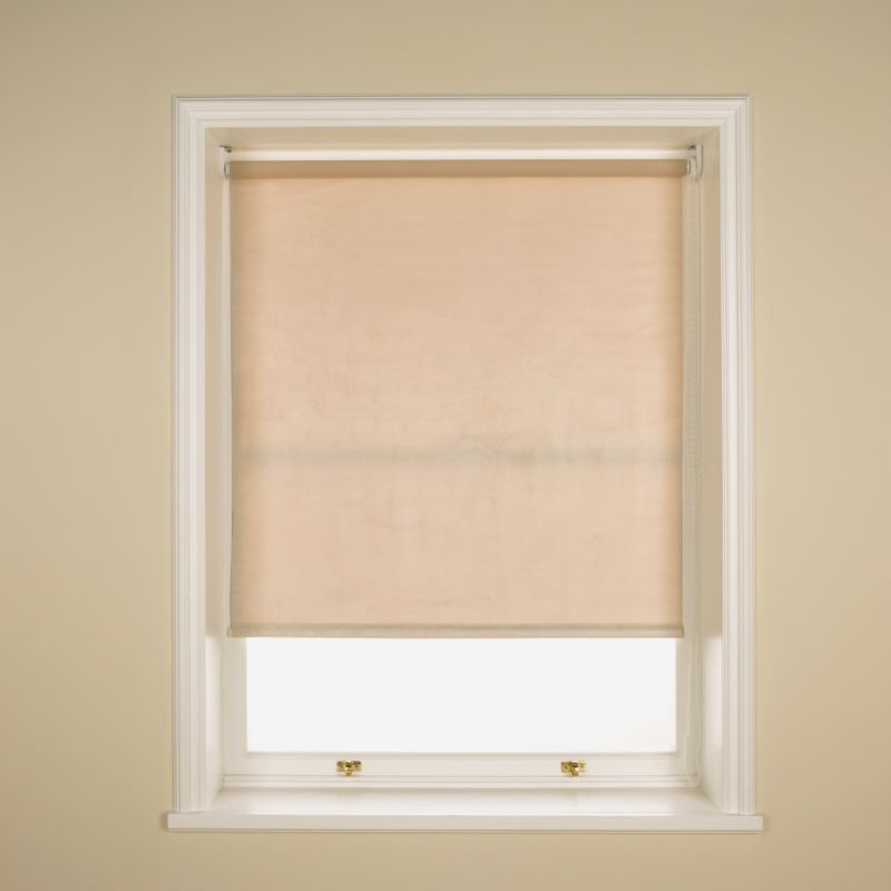 Colours by BandQ Faux Suede Roller Blind Beige