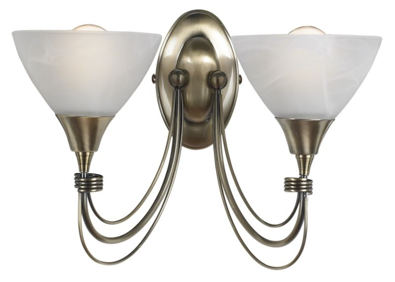 Lights By BandQ Alfaro Double Wall Light
