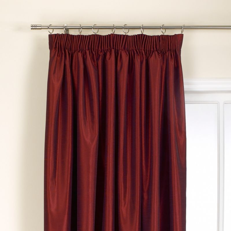 Colours by BandQ Shoana Pleated Curtains Red