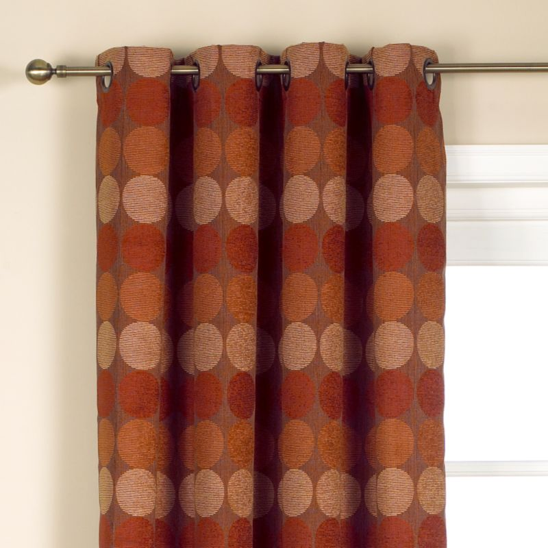 Colours by BandQ Jameson Eyelet Curtains Red