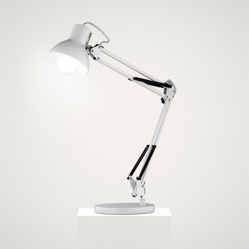 Lights by BandQ Oscar Adjustable Desk Lamp White