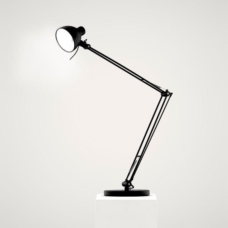 Lights by BandQ Oscar Adjustable Desk Lamp Black