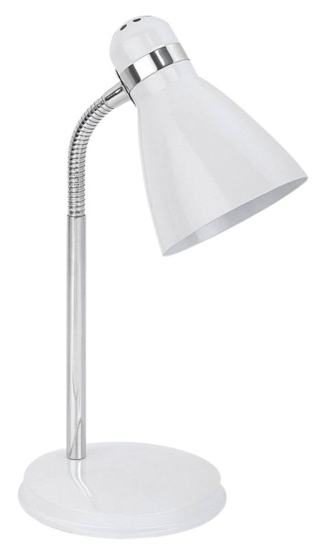 Lights by BandQ Shelley Small Desk Lamp White