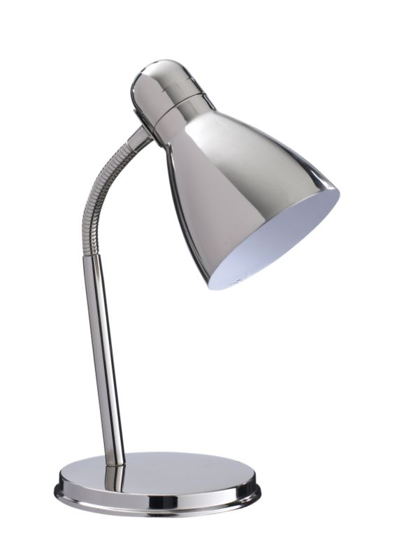 Lights by BandQ Shelley Small Desk Lamp Brushed