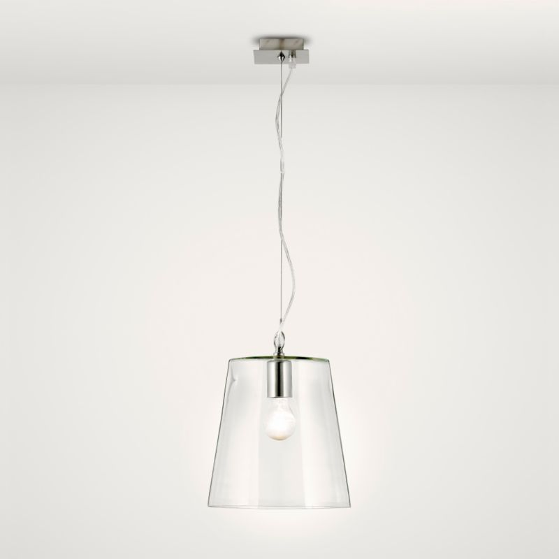 Lights by BandQ Mairi Glass Pendant White