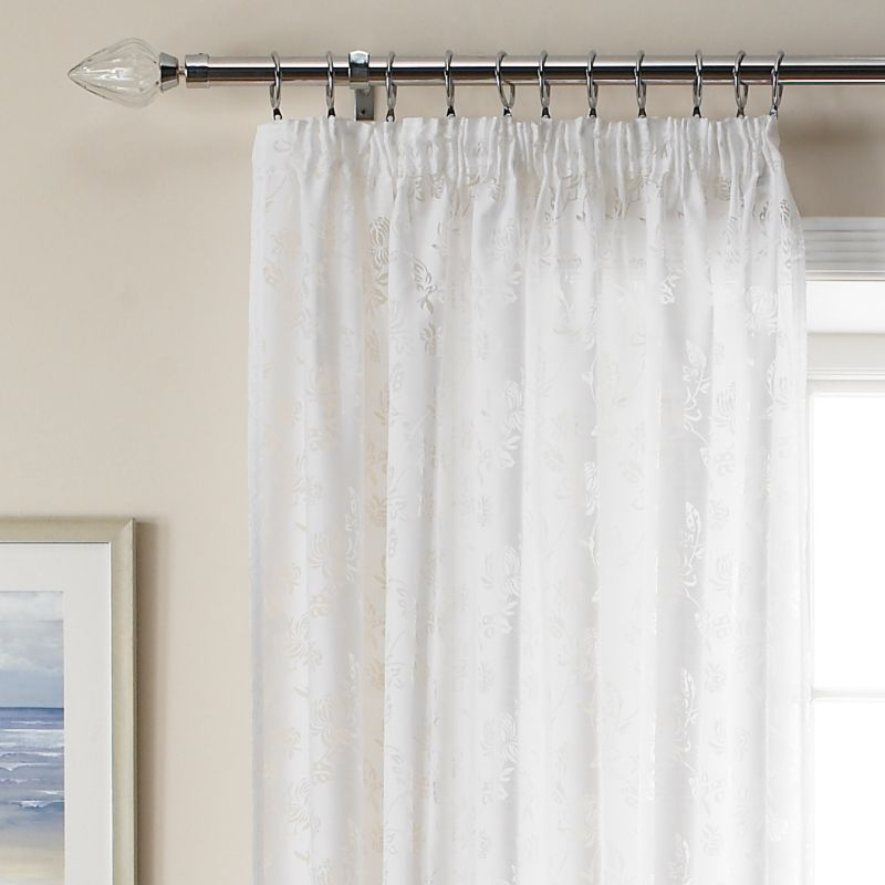 Colours by BandQ Riva Voile Curtains White