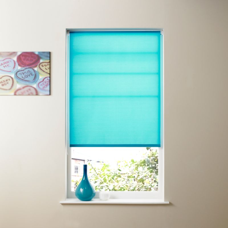 Colours by BandQ Roller Blind Turquoise (W) 180