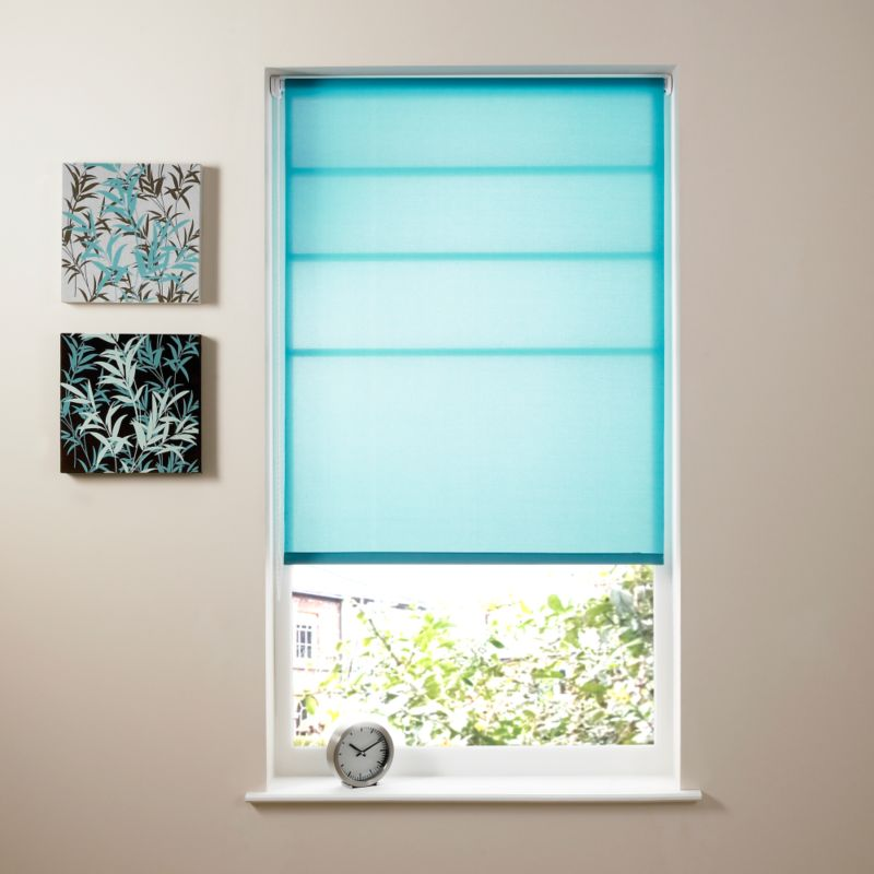 Colours by BandQ Teal Roller Blind Teal (W) 180