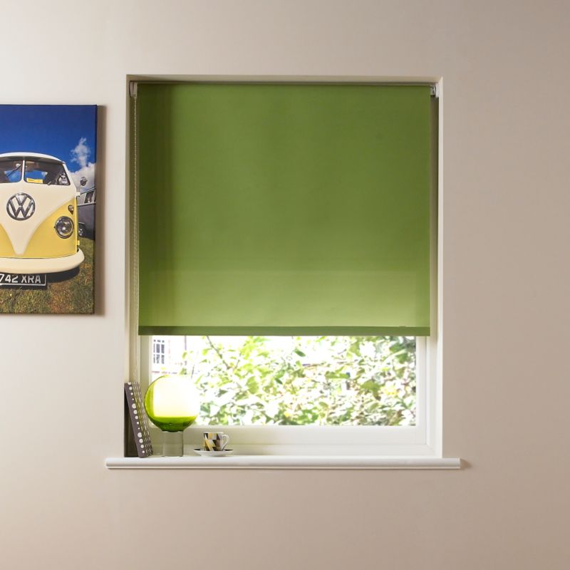 Colours by BandQ Basic Roller Blind Green (W)120