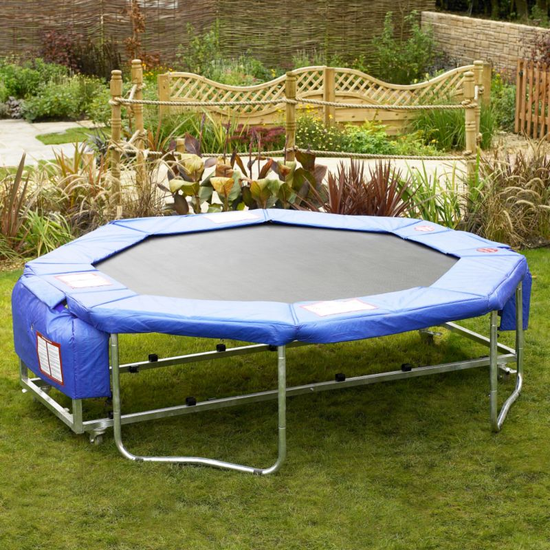 BandQ Folding 12ft Trampoline With Cover and