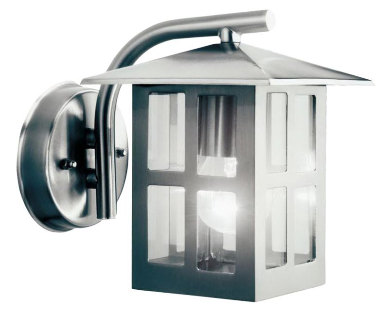 Lights By B Q Vermont Outdoor Wall Light In Stainless Steel IP23 Rated