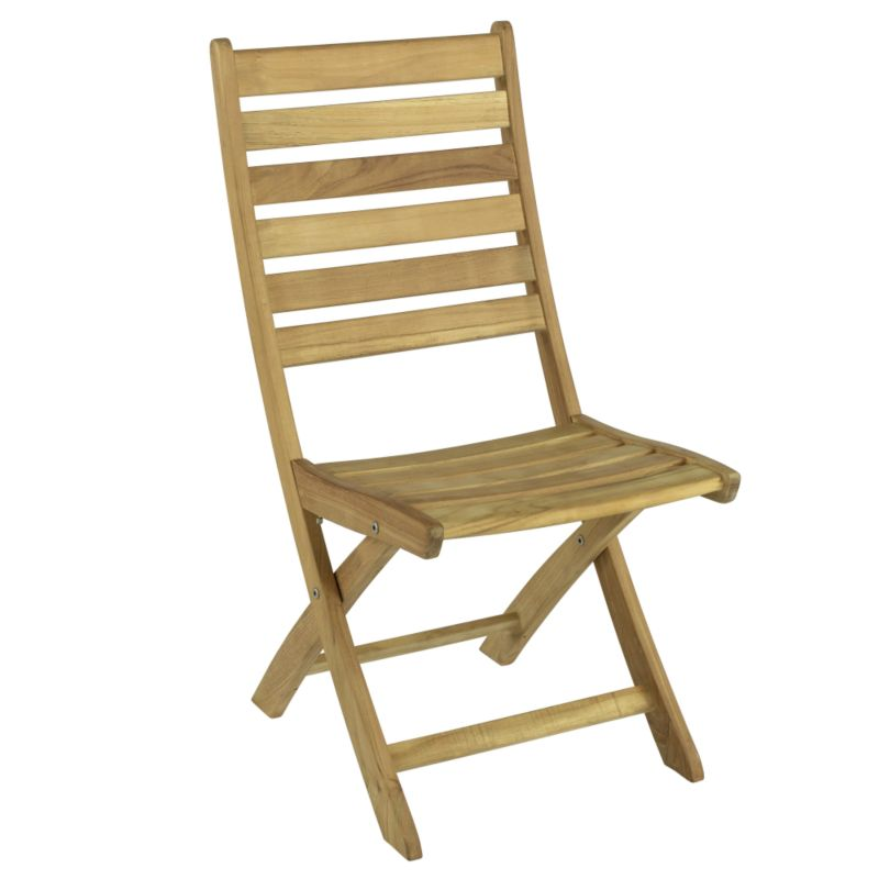 Weston Folding Dining Chair Teak BQ/FC1 Pack Of 2
